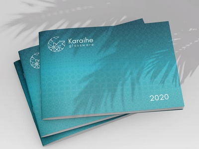Catalogue Karaihe logo pattern brochure print