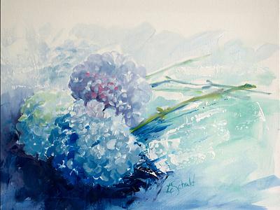 Hydrangeas in Oil oil painting fine art