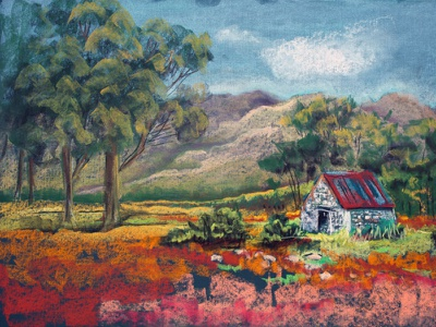 How to create this landscape in soft pastels soft pastels landscape illustration design fine art