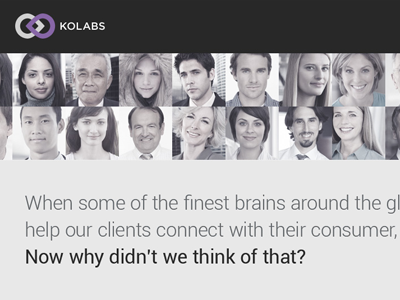 Website Design - Kolabs website corporate parallax homepage single page