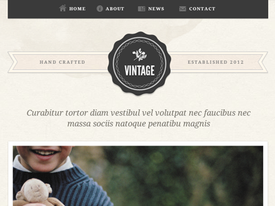 Template Design - Vintage vintage website retro grunge clean