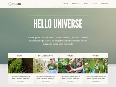 Template Design - Ecoo website eco corporate homepage template