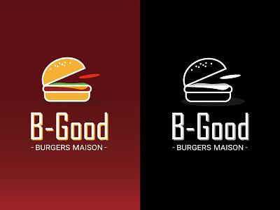 B good food and drink cheese burger cheeseburger branding design brand design branding brand hamburger food restaurant logos logo design logodesign logotype logo burger logo burger