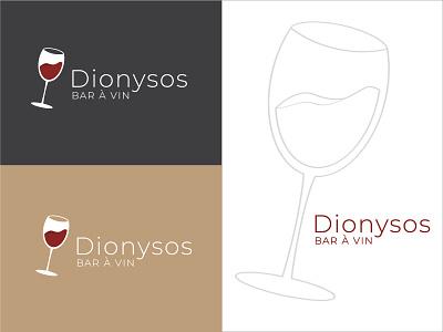 Dionysos wine brand design branding design branding brand wine glass drinking drinks drink pub wine logo glass wine