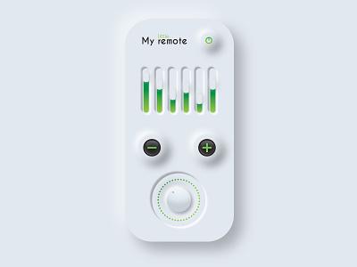 remote neumorphic neumorphic design design neumorphism remote