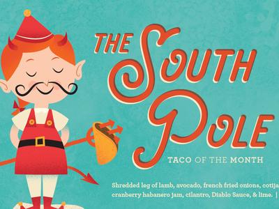 Southpole Elf christmas mustache evil south pole devil elf taco