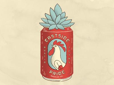 East Side Pride texas brewing east side east austin succulent beer