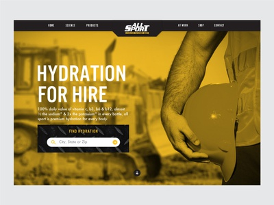 14/31: Hydration for Hire branding visual design web design sports drink
