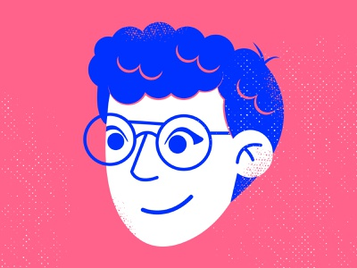 Rebranding Nina 2.0 hair blue pink illustration icon logo profile rebrand