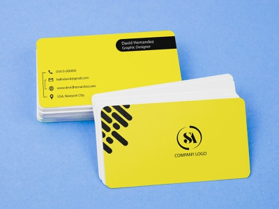 Business Card Design. yellow design visiting card design logo design icon branding design photoshop illustration business card design