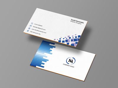 Business Card Design. branding design blue visiting card card design minimal design business card design branding photoshop illustration