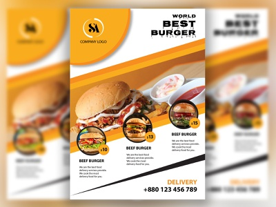 Food Flyer design branding design photoshop illustration flyer design food