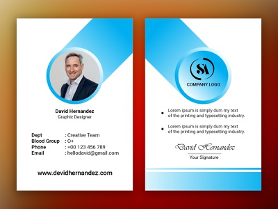 Id Card branding logo design design branding design photoshop illustration id card design