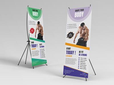 Gym Body branding design branding design illustration photoshop graphic design gym design gym banner gym gym flyer
