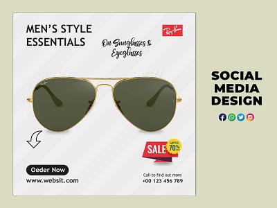 Sunglasses social media design design branding design illustration photoshop sunglasses
