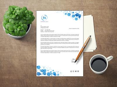 Letter Head Design branding design branding design illustration photoshop letterhead template letterhead design letter head