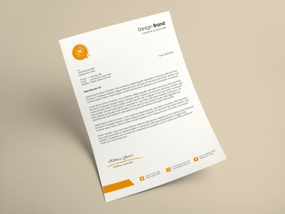 Letter Head Design design branding design illustration photoshop letterhead template letterhead design letter head letter