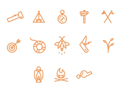 Camping Icons icon