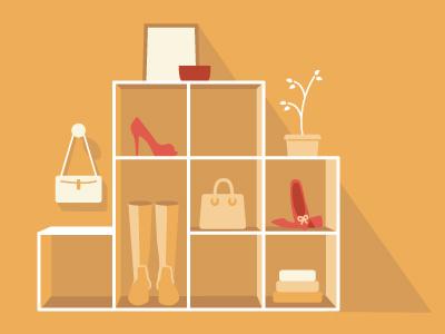 Retail illustration shopping commerce sales illustration shoes