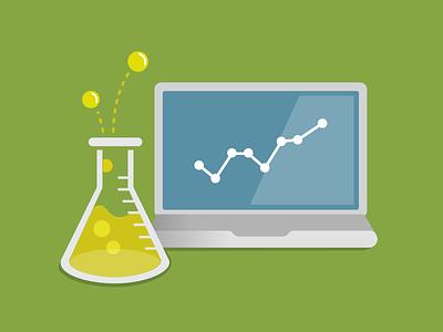 More data science! beaker bubbles laptop science data chemistry