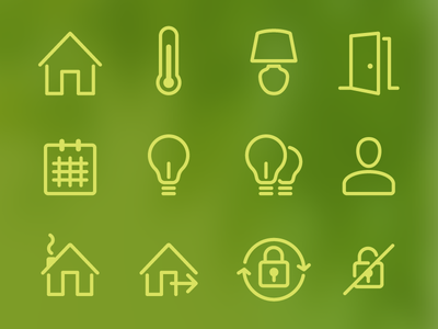 Connected home icons icons