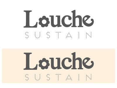 Louche Sustain Logo fashion branding concept artwork art illustration art graphic  design graphic design graphic flowerlogo organic sustainability sustainable logotype branding design design illustrator vector branding logodesign logo