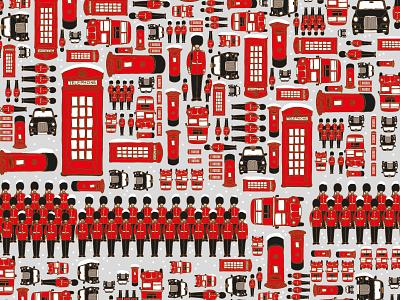 London Christmas Pattern christmas london christmas london london pattern london bus london pattern stationery design illustrations digitalart illustraion designer illustration art digital art illustration digital illustration illustrator