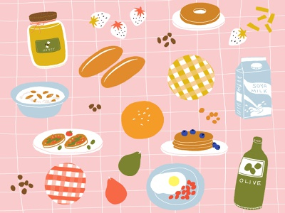 Breakfast designers design foodie food illustrator breakfast club digital food illustrations foods food illustration breakfast illustrations designer illustraion digital painting digital art illustration art illustration digitalart digital illustration illustrator