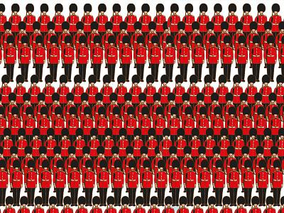 Queen's Guards pattern art london themed london themed london icons london guards guards patterns illustrations design illustraion digitalart designer illustration art digital art illustration digital illustration illustrator
