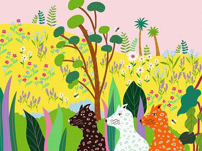 Together digital painting drawing jungle minds designer graphicsdesigner wildlife art flowers plants wildlife illustration jungle wildlife illustraion digitalart illustration design illustrations digital art illustration illustration art digital illustration illustrator