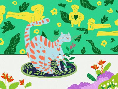 Self-Love wallart illustrations flower illustration flowers plants jungle wildlife lovers self love wildlife illustration designer digitalart illustration art digital art digital illustration illustrator