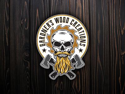 Gardner's Wood Creations Logo graphic design branding vector art logo design