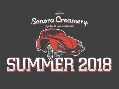Sonora Creamery Car Show T-Shirt logo branding typography illustrator design illustration vector