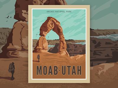 Moab Poster illustrator design vector illustration