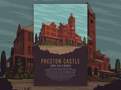 Preston Castle Poster illustrator design vector illustration