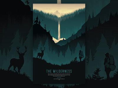 Wilderness Poster Illustration illustrator design vector illustration