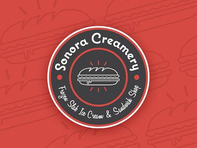 Sonora Creamery Logo logo branding typography vector design illustration
