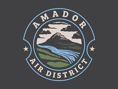 Amador Air District Logo logo branding illustrator design vector illustration