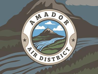 Amador Air District Logo logo branding typography illustrator design vector illustration