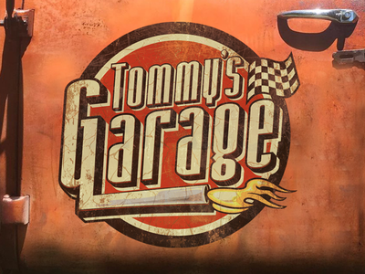 Tommy's Garage Logo illustrator graphicdesign vector