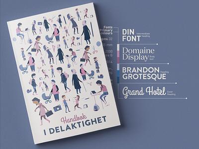 Book design graphic design blue pink characters library typography illustrator illustration digital illustration art branding rickard grönkvist