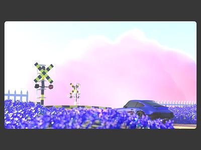 Japan 3D ui vector app render logo minimal uxdesign uidesign graphic design flat design creative purple color simple clean art abstract 3dart 3d