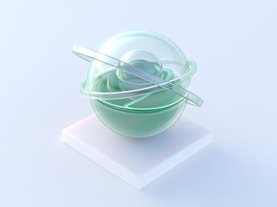 GLA$$ animation ui web motion graphics graphic design soft colorful color green glass branding logo illustration render design art abstract 3dart 3d