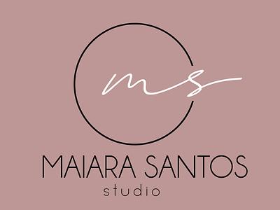 Studio Maiara Santos | Branding illustrator logo minimalist logo elegant design pink feminine logo feminine branding