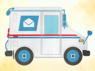 Old School USPS Mail Truck by Brad Chmielewski on Dribbble