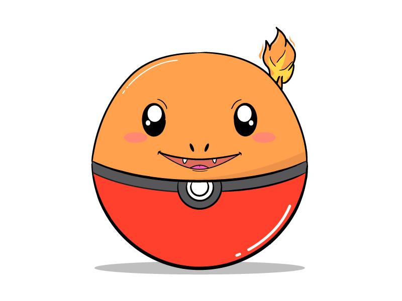 004 Charmander vector pokemongo pokeball pokedex pokemon