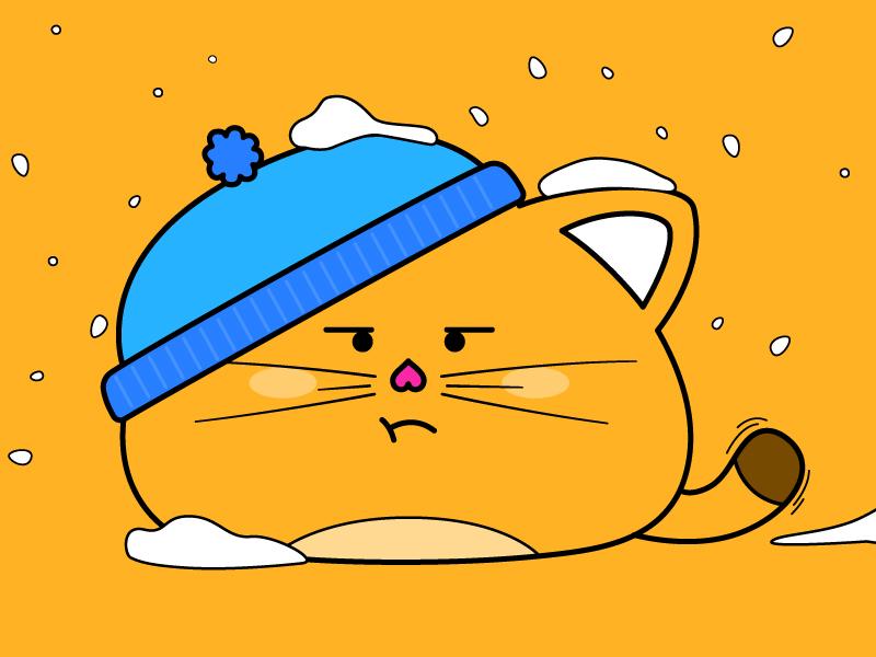 Snow Kitty mad cat mad fat cat orange cat orange winter snowing kitty vector snow cat
