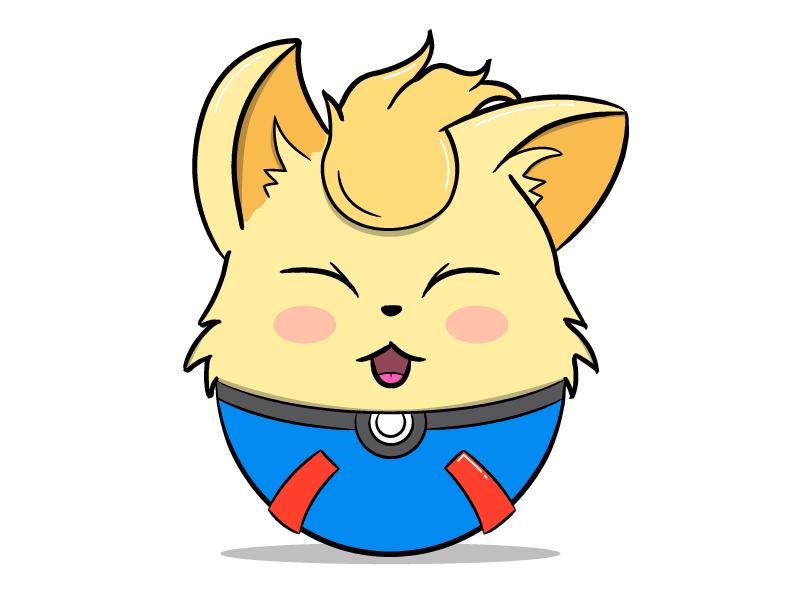 Ninetales vector pokemon go pokemongo pokeball pokemon ninetales