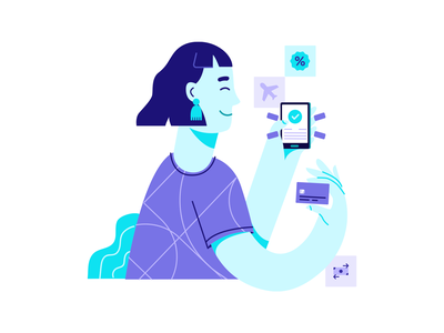 Automatic payment design ui illustration miles discounts cashback illustration art payment credit card payment credit card creditcard
