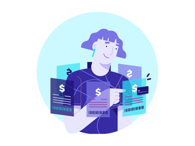 Activating the automatic payment ui design uidesign ui illustration art illustration illustrator bills credit card payment payment app payment